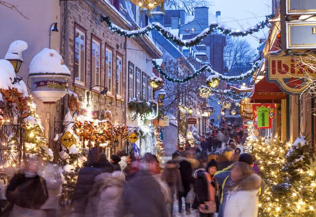 Quebec City an Weihnachten